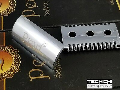 Replacement Part Pearl Open Comb Head for Double Edge Shaving Razor w Logo