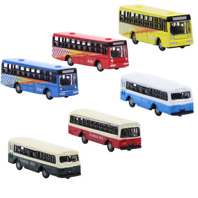 BS150 6pcs Diecast Model Bus Car 1:160 Train Layout N Scale NEW