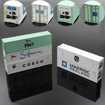 C8722 5PCS 40ft Hi-Cube Refrigerater Shipping Container Freight Cars HO Scale