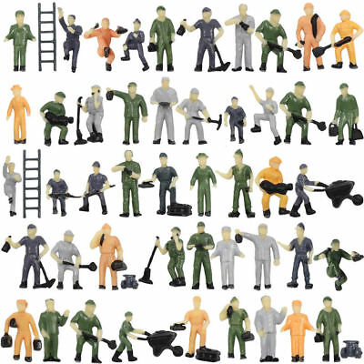 P8710 50pcs 1:87 Well Painted Figures Workers HO Scale