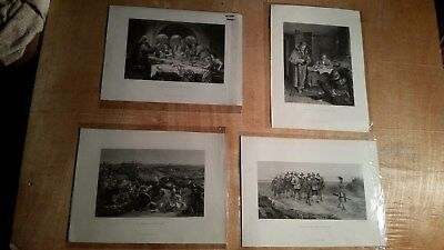 """Lot Of 4 Antique 1800's STEEL ETCHING J. S. Virtue London 10X14"""""""