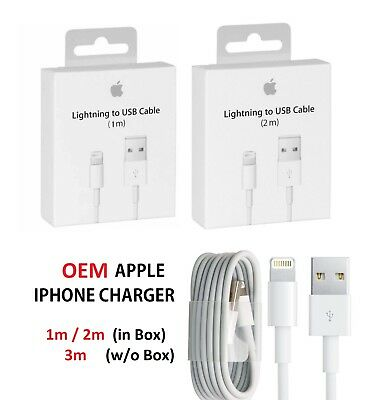 ORIGINAL iPhone 3/6/10 FT Lightning Cable USB Charger OEM Lot Apple 8 7 Plus 6 5