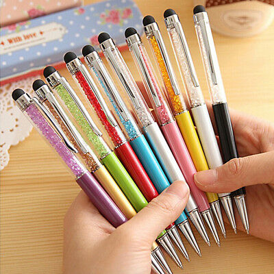 2in1 Crystal Screen Stylus Pen Capacitive Ballpoint For Iphone/Ipad Touch Device