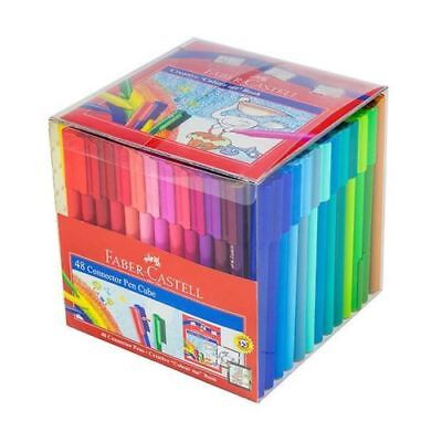 Kids Colouring Textas Faber Castell 48 Pack Water Based Colours School Drawing A