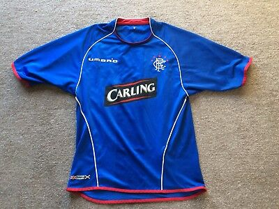 Glasgow Rangers FC Shirt 2005-06 Retro Vintage Scottish Premiership Small