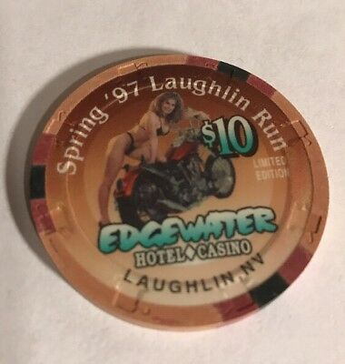 Edgewater Hotel Casino Spring '97 Laughlin Run Limited Edition $10 Poker Chip