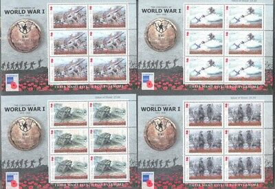Isle of Man-Battle of the Somme set of 6 sheets mnh-World War I- Military