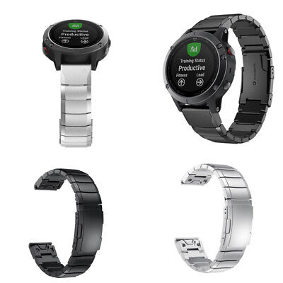 Stainless Steel Bracelet Quick Replacement Band Strap For Garmin Fenix 5 Watch