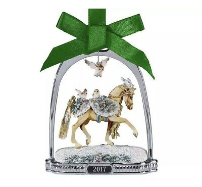 Breyer Winter Wonderland Stirrup Horse Owl Ornament 2017 NIB