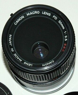 Canon Macro Lens Fd 50Mm-F/3.5 With Life Size Adapter