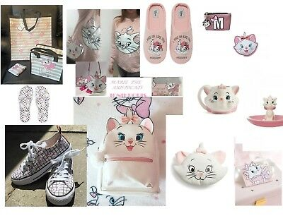 Primark Disney Marie The Cat Aristocats Backpack Bag Throw Slippers Shoes Purse