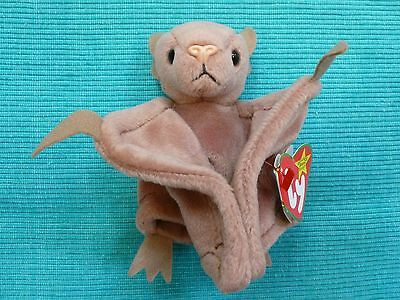 TY Beanie Babies ~ BATTY the Brown Bat ~ Suffed Plush Bean Bag ~ 1997 ~ with tag