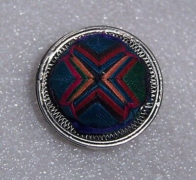 The ancient relic hand embroiders a silver filament button  2.8cm