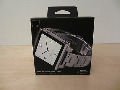 HEX VISION METAL iPOD NANO 6TH GENERATION WATCH BAND IN SILVER - NEW AND BOXED!
