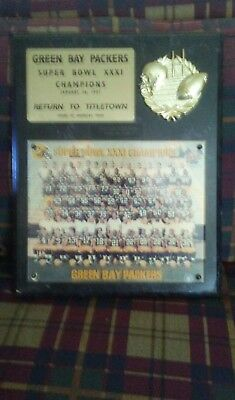"""Green Bay Packers SUPER BOWL XXX1 Photo Wall Plaque 12"""" x 15"""""""