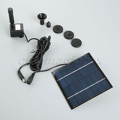 Solar Panel Powered Brushless Pump 1.2W 7V For Water Cycle Pond Fountain Garden