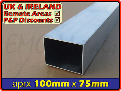 "Aluminium Rectangular Tube ║ 100mm x 75mm / 4x3 ""║ box section,profile,rectangle"