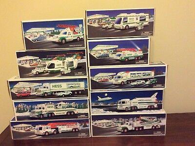 Hess Trucks Lot of 10 1992-2002 REDUCED!