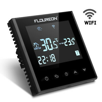 Digital Touch Screen WiFi WLAN Fußbodenheizung Thermostat Programmierbar HY03WE
