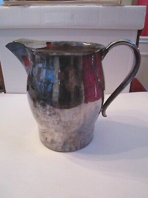 "Silver Plated Paul Revere Reproduction Water Pitcher - 7"" Tall #7504"
