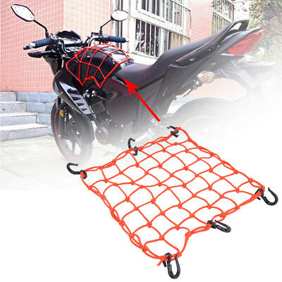 40*40cm Motorcycle Scooter Fuel Tank Helmet Cargo Luggage Elastic Mesh Net Bag