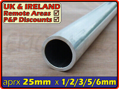 Aluminium Round Tube ║ 25mm /25.4mm outside diameter║section,pipe,Internal ID OD