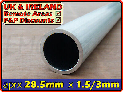 Aluminium Round Tube ║ 28mm - 29mm outside diameter║ section,pipe,Internal ID OD