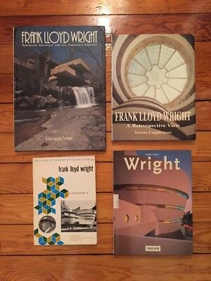 Lot Of 4 Large Frank Lloyd Wright Books - Scully Taschen Copplestone Sommer VG
