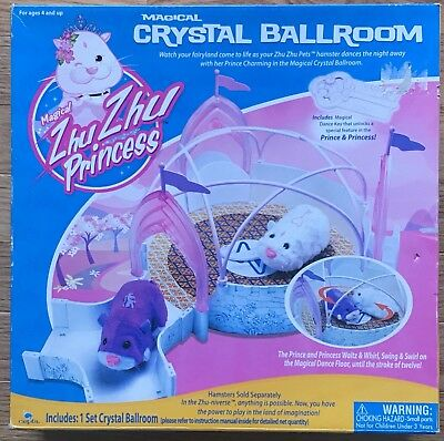 ZHU ZHU PRINCESS PETS Magical Crystal Ballroom Hamster Set New In Box