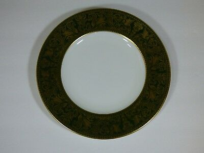 "Set Of 4 - Wedgwood Florentine Dark Green 6"" Bread Butter Plates - Near Perfect"
