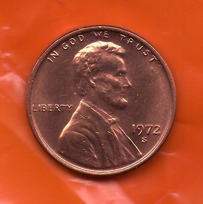 1972 S Penny   UNC   SELL OFF   Slot Filler or Starter Coin   (72S0107)