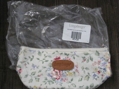 Longaberger 2002 Spring Floral Cosmetic Bag Small Oval New