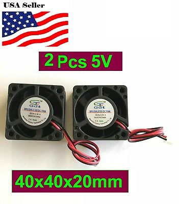 2Pcs 12V 5V Gdstime 40mm 40x40x20mm 4020S 2P Fan DC Duct Ventilation Cooler Fan