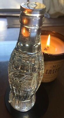 Cocoa Cola 24% Full Lead Crystal 6oz Clear Glass Bottle