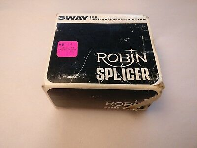 3 Way Vintage Film Splicer for Super 8 Regular 8 16mm Types Robin Made in Japan