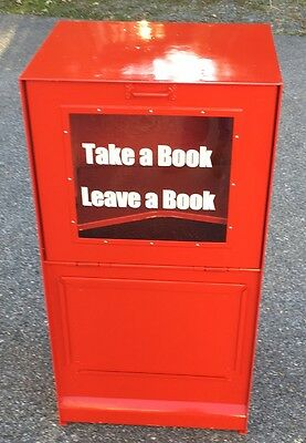Sidewalk Library-With Screened On Graphics-Recycled Box