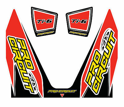 Pro Circuit T-6 Wrap/end Cap Decals Replacement Muffler Stickers Dc14Ti6-Crf