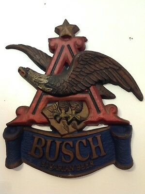 Vintage USA Anheuser BUSCH BAVARIAN BEER SIGN Flying Eagle over A. UNION MADE