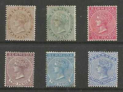Bermuda Victorian Selection Of 6 Mounted Mint Or Unused Cat £190 Minimum