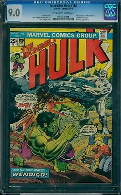 Incredible Hulk 180 CGC 9.0  OW/W pages  1st Wolverine in Cameo!