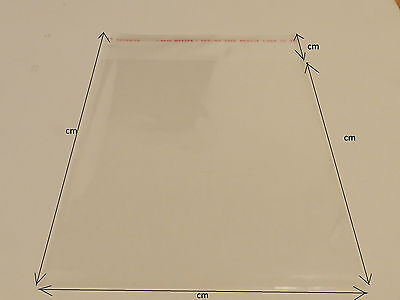 Clear Cello CELLOPHANE Reseal Self Adhesive seal plactic bags - Gift wrap - Syd