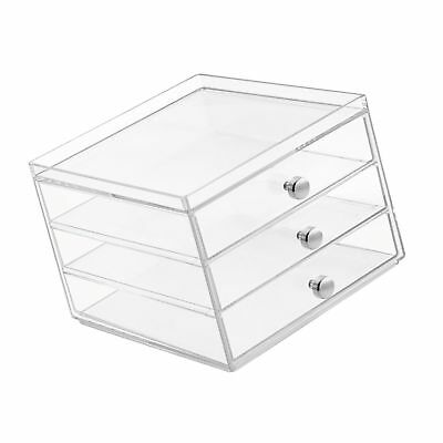InterDesign Office Desk Organizer  Cabinet with 3 Slim Storage Drawers for Hi...