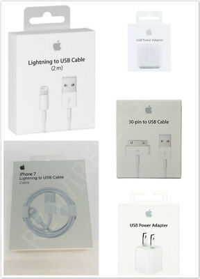 Original Apple Lightning Charger Cable & Wall Adpater iPhone X 8 7 6 6S Plus 5 4