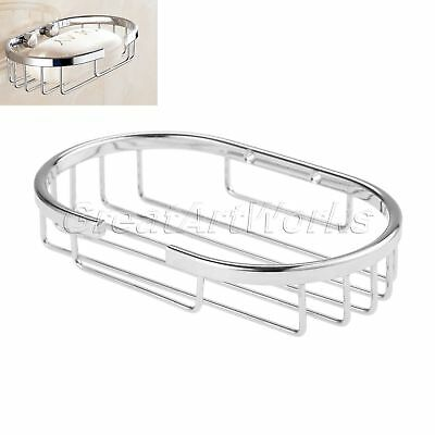Stainless Steel Wall Mounted Kitchen Bathroom Bath Shower Soap Dish Tray Holder