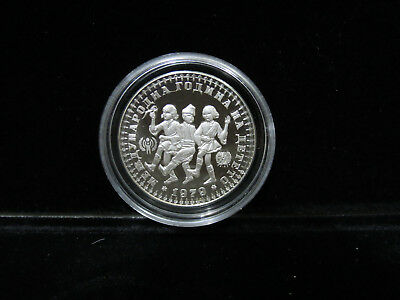 1979 Bulgaria 10 Leva Proof .925 Silver Year of the Child