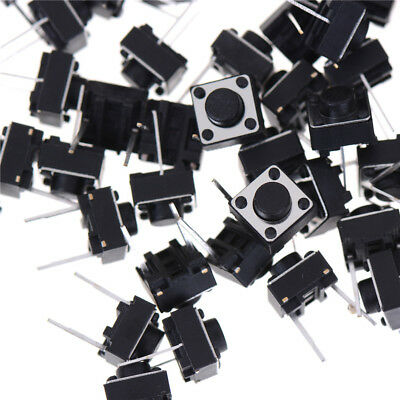 100pcs 2pins Tactile Push Button Switch Tact Switch 6X6X5mm Momentary Pop ZY