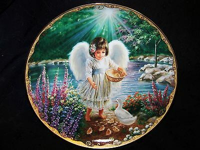 Bradex Limited Edition Plate 1996 Issue #5 in GARDEN BLESSINGS An Angel's Warmth