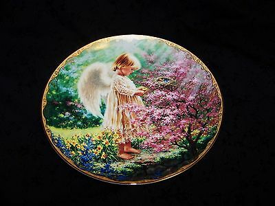 Bradex Limited Edition Plate 1997 7th in GARDEN BLESSINGS An Angel's Tenderness