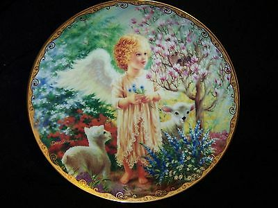Bradex Limited Edition Plate 1996 Issue #8 in GARDEN BLESSINGS An Angel's Grace