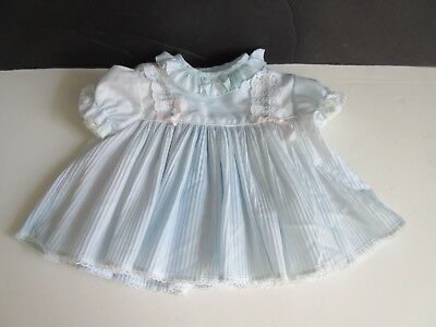 VTG Baby Girl Light Blue Pleated Dress Disney Sears 10- 14 Pounds